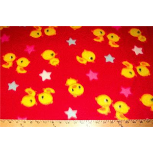 Baby Chicks Red Fleece