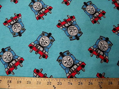 Blue Thomas Train Flannel