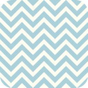 Chevron Charmeuse Satin BABY BLUE WHITE SP-11