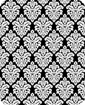 Victorian Damask WHITE BLACK SP-23