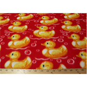 Ducks Red Fleece 131