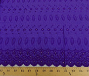 Eyelet Embroidery Purple EL-18