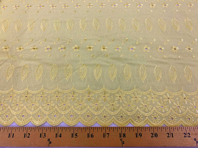 Eyelet Embroidery Yellow EL-19