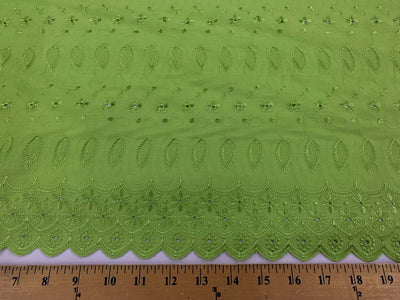 Eyelet Embroidery Lime EL-26