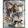 Anti Pill Moose Panel Fleece B606