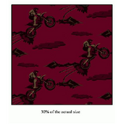 Anti-Pill Dirtbikes Burgundy Fleece 212