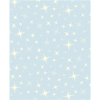 Anti-Pill Glittering Star Lt Blue Fleece 407