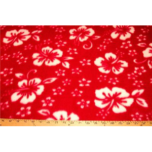 Classic Red Hibiscus Fleece