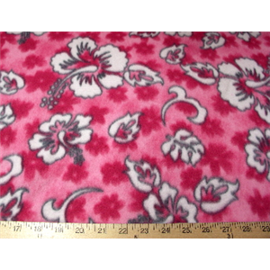 Hibiscus Hot Pink Fleece 58