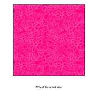 Anti-Pill Hot Pink Floral Fleece 210