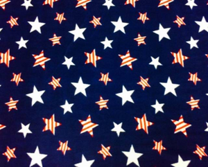 Premium Anti-Pill Striped Stars Fleece 236