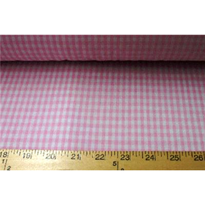 Poly/Cotton Checker Hot Pink