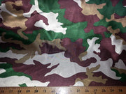 Camouflage Charmeuse Satin HUNTER GREEN