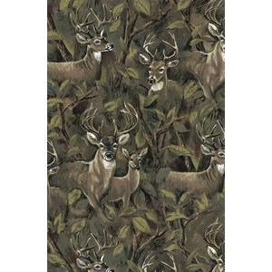 Anti Pill Deer In Forest Fleece B182