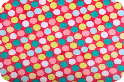 Misc Minky Cuddle Prints CORAL TEAL RETRO DOT