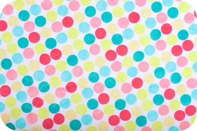 Misc Minky Cuddle Prints WHITE YELLOW RETRO DOT