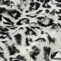 Soft Cuddle Fur JAGUAR WHITE BLACK SF-37
