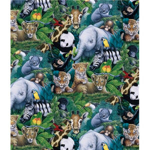 Premium Anti-Pill Jungle Kids Fleece A26