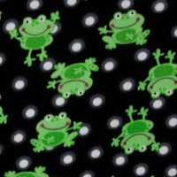 Premium Anti-Pill Polka Dots Frog Black Fleece A39