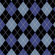 Premium Anti-Pill Classic Argyle Blue Fleece A48