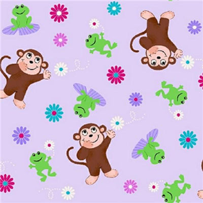 Premium Anti-Pill Monkey Frogs Fleece A62