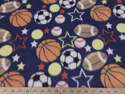 All Sports Balls Navy Fleece 228