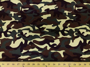 100% Cotton Army Camouflage Canvas