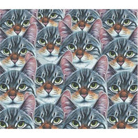 Anti-Pill Cat Mosaic Fleece B143