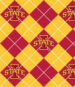 Premium Anti-Pill Iowa State Argyle Fleece B25
