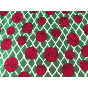 Basketballs Green Fleece