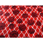 Basketballs Orange Fleece