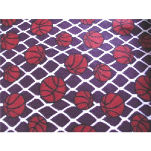 Basketballs Plum Fleece