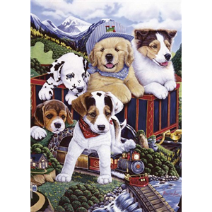 Premium Anti-Pill Train Dogs Panel Fleece B446