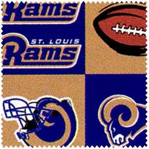 "Anti-Pill St. Louis Rams Fleece F97 ""LAST PIECE MEASURES 1 YARD 24 INCHES"""