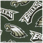 "Anti-Pill Philadelphia Eagles Fleece B541 ""LAST PIECE MEASURES 2 YARDS 23 INCHES"""