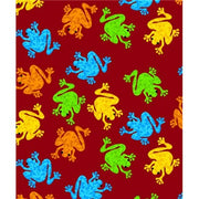 Premium Anti-Pill Frogs Red Fleece B549