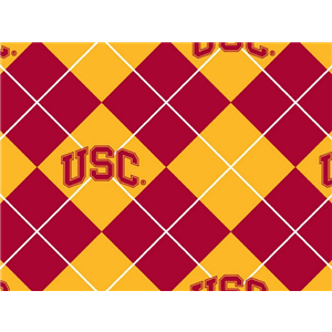 "Anti-Pill USC Argyle Fleece B566 ""LAST PIECE MEASURES 1 YARD 30 INCHES"""