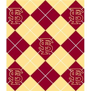 Premium Anti-Pill Florida State Argyle Fleece B644