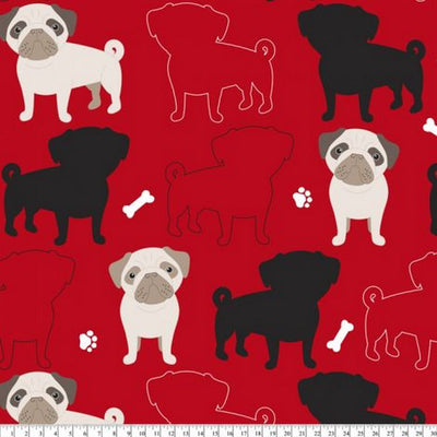 Premium Anti-Pill Oh My Pugness Fleece B973