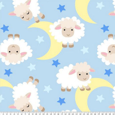 Sheep Dreams Blue Fleece B988
