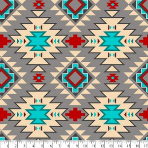 Native Argyle Gray Multi Fleece B991