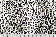"Cheetah Charmeuse Satin LEOPARD SILVER SP-29 ""LAST PIECE MEASURES 1 YARD 29 INCHES"""