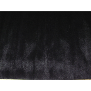Misc Long Pile Minky Fur Solids BLACK PELTED