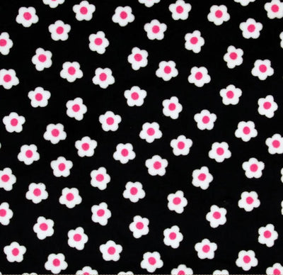 Misc Minky Cuddle Prints BLACK FLOWER