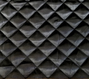 Black 1-1/2 Quilted Satin
