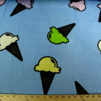 Premium Anti-Pill Ice Cream Cones Fleece 171