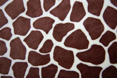 Giraffe Minky Cuddle Fur BROWN MINT