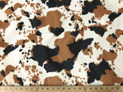 Velboa Animal Skins Fur Cow Brown Black Lot 2