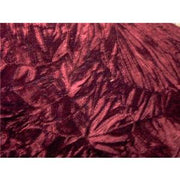 Crushed Non-Stretch Velvet BURGUNDY
