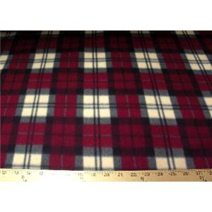 Anti-Pill Christmas Plaid Fleece 342
